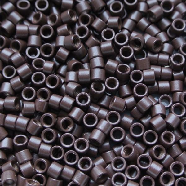 Microringen met schroef bruin