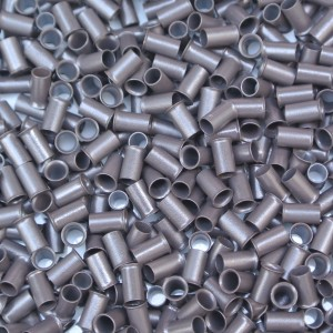 Microring Koper bel - Donker Bruin