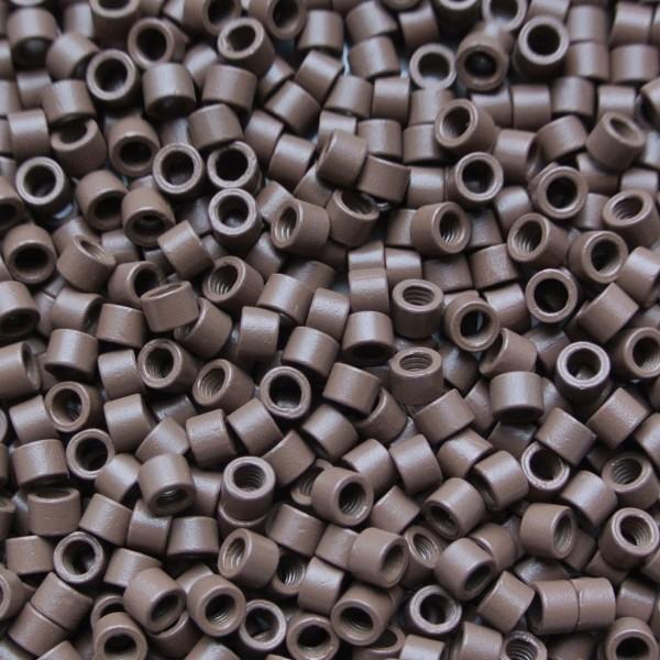 Microringen met schroef licht bruin