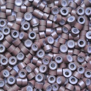 Microringen met silicone Bruin