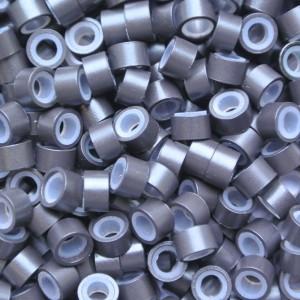 Microringen met silicone Donker Bruin