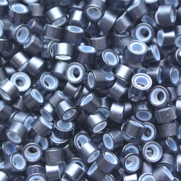 Microringen met silicone Zwart